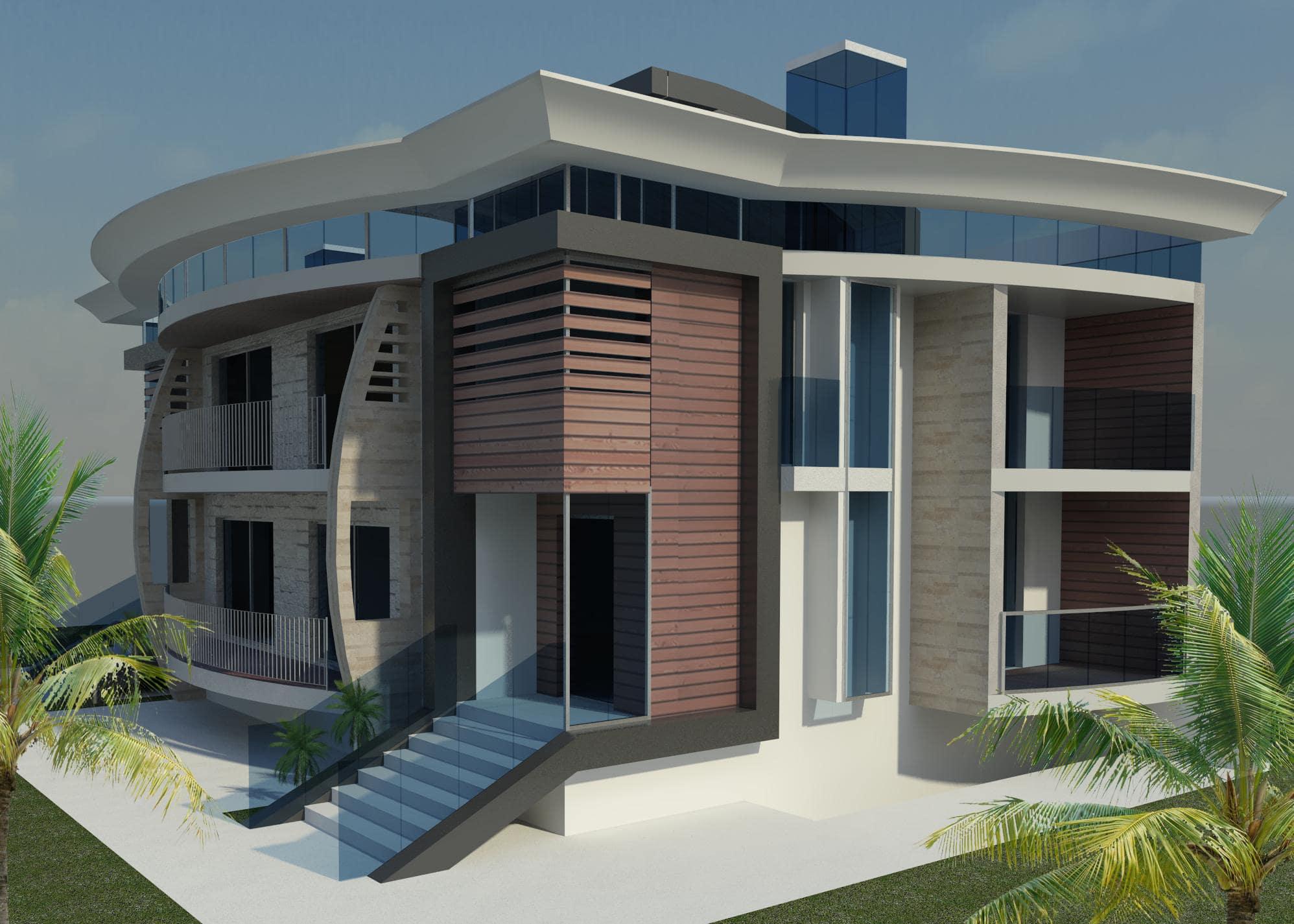 Villa Unifamiliare tre piani 1